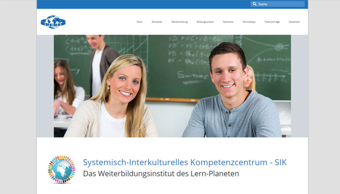 Website des SIK - Referenz von Text und Wert