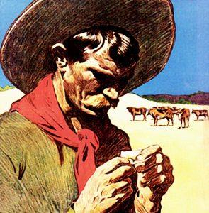 Cowboy mit Hut
