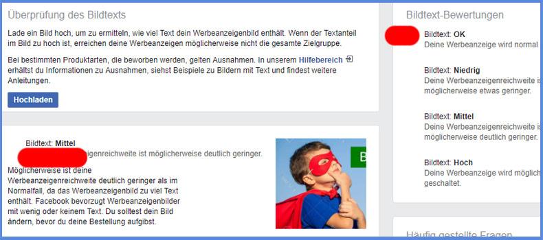 Das Facebook Text-Overlay-Tool