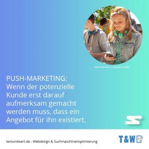 Webdesign ärzte - Beispiel Push Marketing